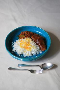 Our vegetarian main of Khoresht-e-Baademjun