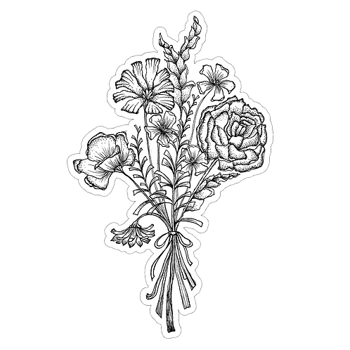 Flower Bunch Sticker