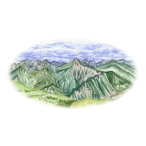 Switzerland Mountain Stickers