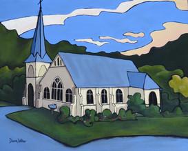 """""""Baptism"""" Wesleydale Memorial Church, Kaeo, NZ"""