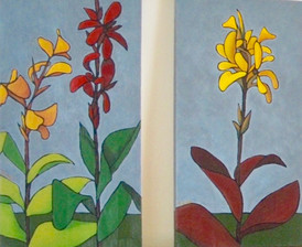 """""""Canna Lilies--Sisters"""""""