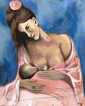 """""""Maternidad--Picasso"""" copy from his Rose period"""