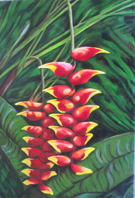 """#2 of""""Tropical Trio"""" (Heliconias varieties--Gingers)"""