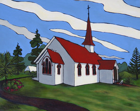 """Matrimony"" St. Joseph's Anglican Maori Church, Awanui, NZ"