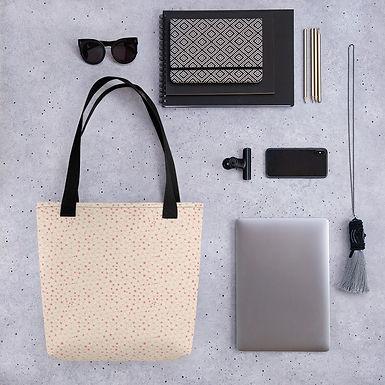 Tote bag matrix pattern shopping handbag