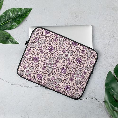Laptop Sleeve 13 inch & 15 inch Pink Flower