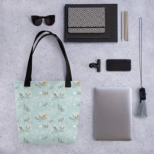 Tote bag dandelion pattern shopping handbag