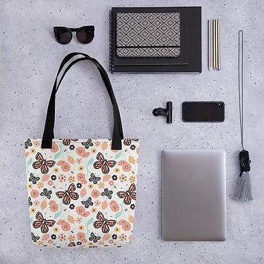 Tote bag butterfly pattern shopping handbag