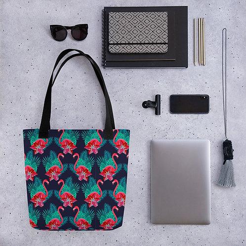 Tote bag flamingo pattern shopping handbag