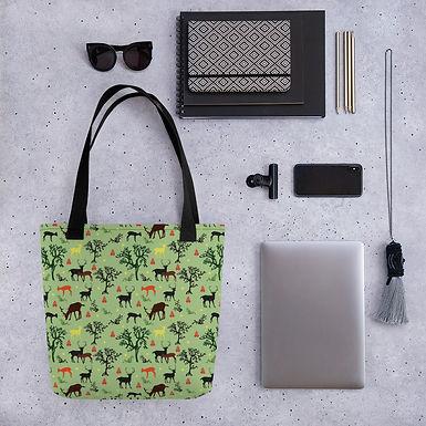 Tote bag forrest deer pattern shopping handbag