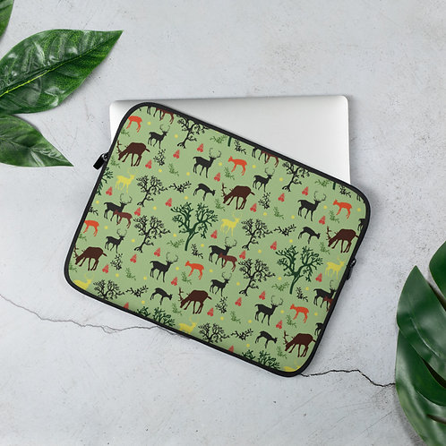 Laptop Sleeve 13in and 15in Woodland Animals