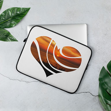 Laptop Sleeve 13in and 15in Sunset Love Heart
