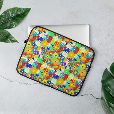 Laptop Sleeve 13in and 15in Flower