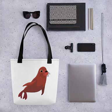 Tote bag seal pattern shopping handbag