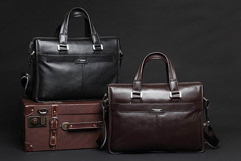 15.6 Inch Real Leather Laptop Bag