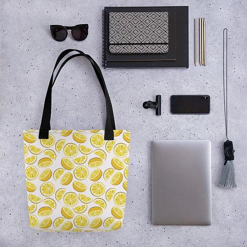 Tote bag pattern lemon slives