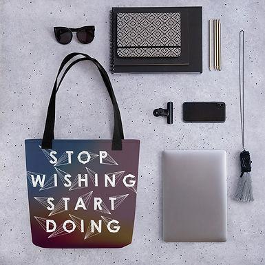 Tote bag wishing pattern shopping handbag
