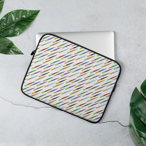 Laptop Sleeve 13in and 15in Paintbrush