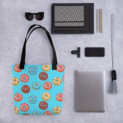 Tote bag donuts pattern shopping handbag