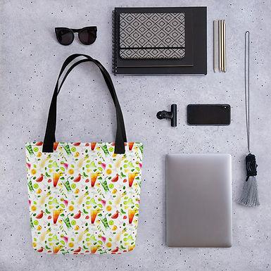 Tote bag pattern cocktail drinks happy hour handbag