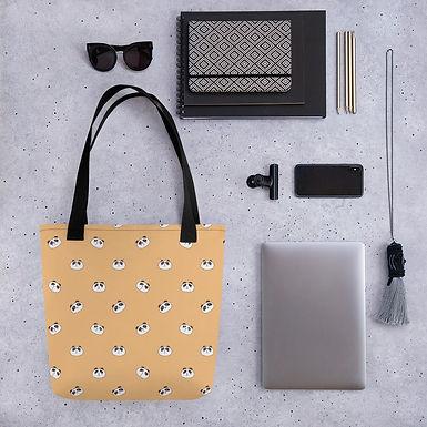 Tote bag panda pattern shopping handbag