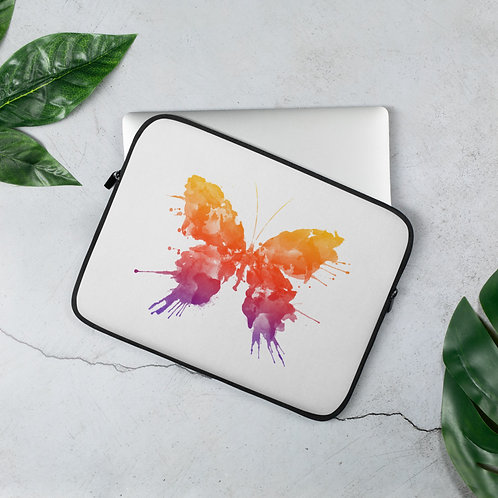 Laptop Sleeve 13in and 15in Ink Butterfly Splat