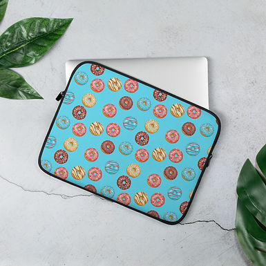Laptop Sleeve 13in and 15in Donuts