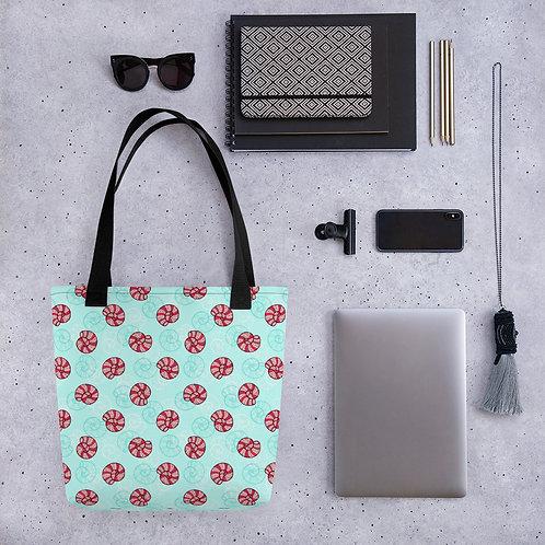 Tote bag ammonite pattern shopping handbag
