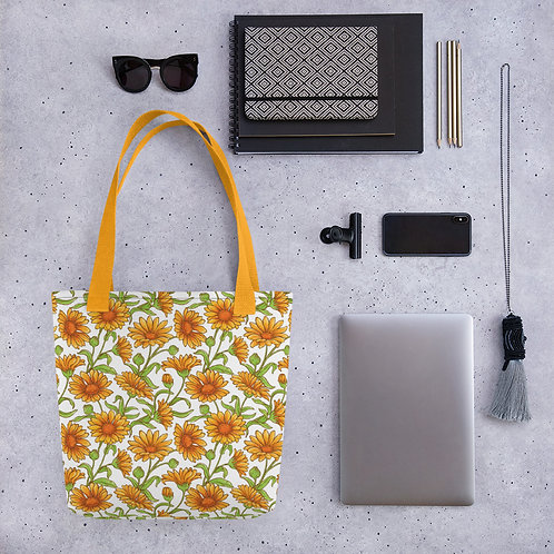 Orange Flower - Tote bag