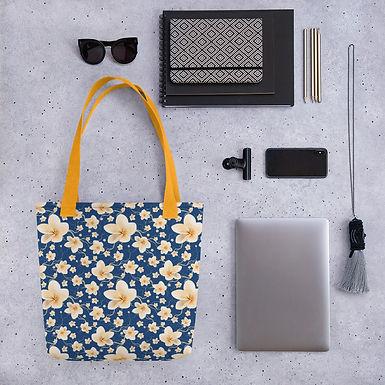 Tote bag pattern blue flower