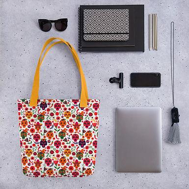 Tote bag mexican dead pattern shopping handbag
