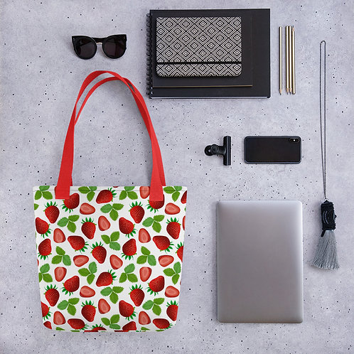 Tote bag strawberry shopping handbag