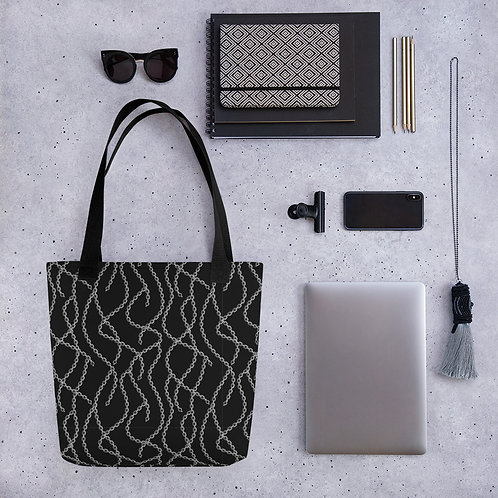 Tote bag pattern chains goth