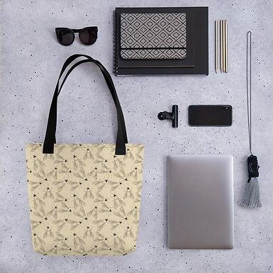 Tote bag fly pattern shopping handbag