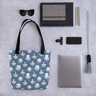 Tote bag iglo pattern shopping handbag