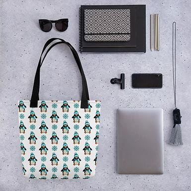 Tote bag penguin pattern shopping handbag