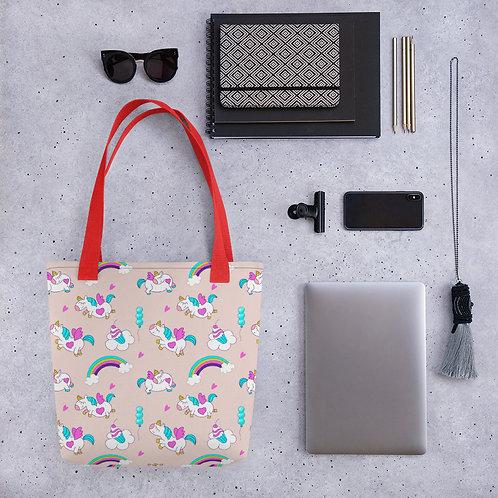 Tote bag unicorn pattern shopping handbag