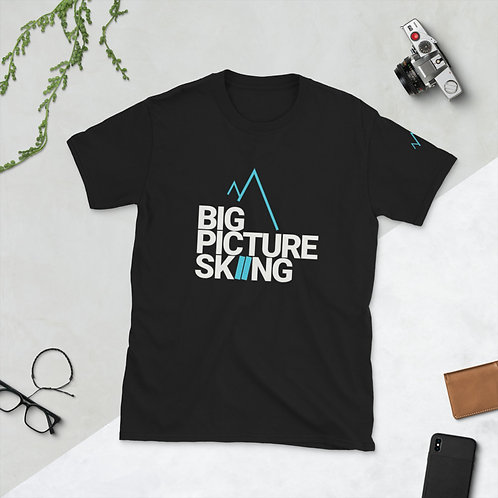 Short-Sleeve Unisex T-Shirt Big Picture Skiing blue