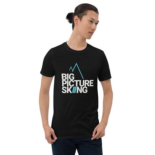 T-Shirt Big Picture Skiing (White/Aqua)