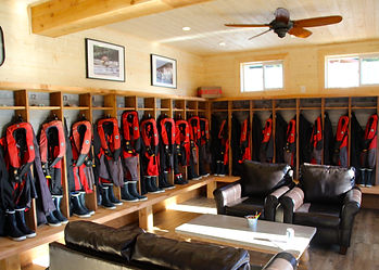 Legacy Lodge guest locker room