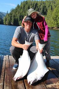 Legacy Lodge halibut on dock
