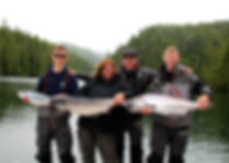 Legacy Lodge family with coho
