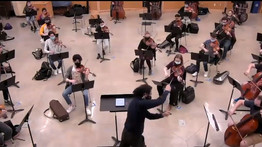 """Barbosa-Vásquez conducted for """"Prime League"""" Orchestras' Concertmasters"""
