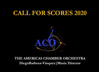 Call for Scores 2020 TheACO (The Americas Chamber Orchestra)