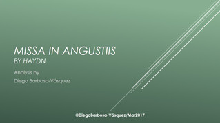 Missa in Angustiis by Haydn - Analysis by Diego Barbosa-Vásquez