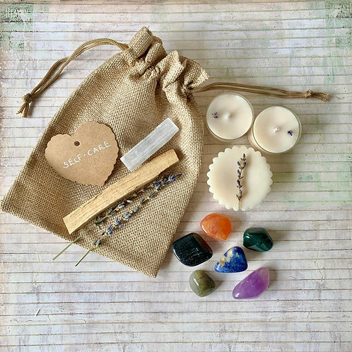 Anxiety & Overwhelm Self-Care Crystal Kit