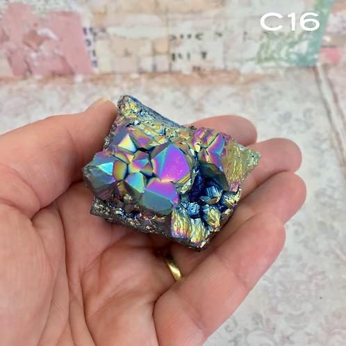 Rainbow Amethyst Crystal Cluster C16
