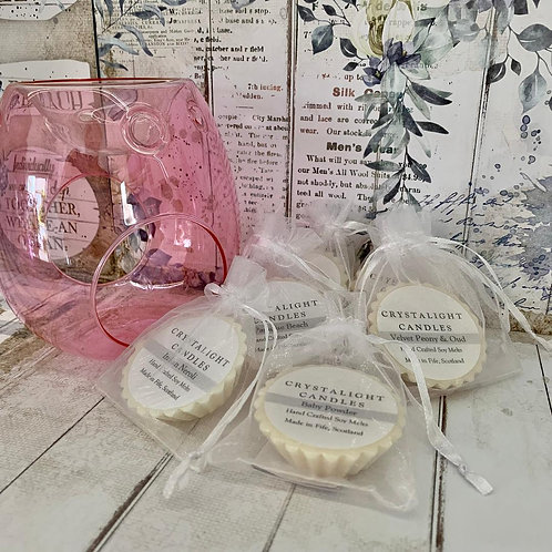 Pearl Pink Glass Burner