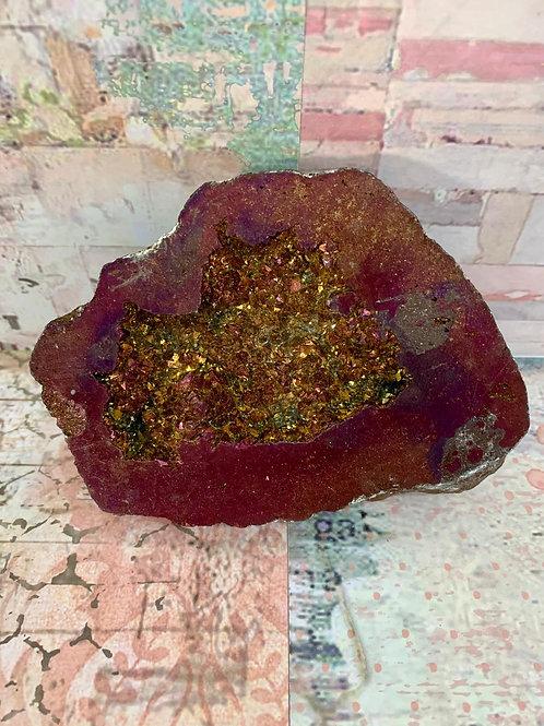Purple Aura Geode
