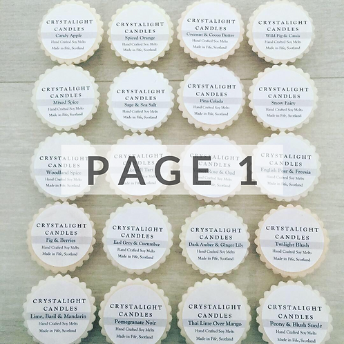 Highly Fragranced Soy Wax Melts Page 1